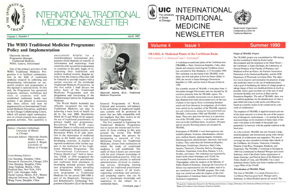 Int Trad Med Newsletters (Vol 1 Issue 1, 1985; Vol 4, Issue 1,1990)