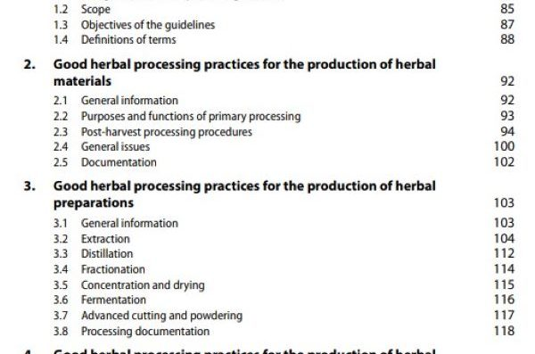 Guidelines on Good Herbal Processing Practices Research
